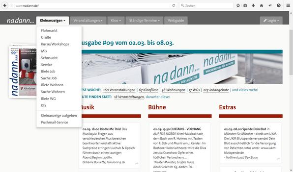 Screen der nadann Startseite