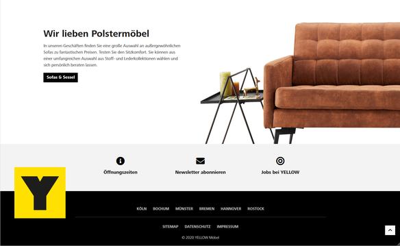 Yellow Möbel Website
