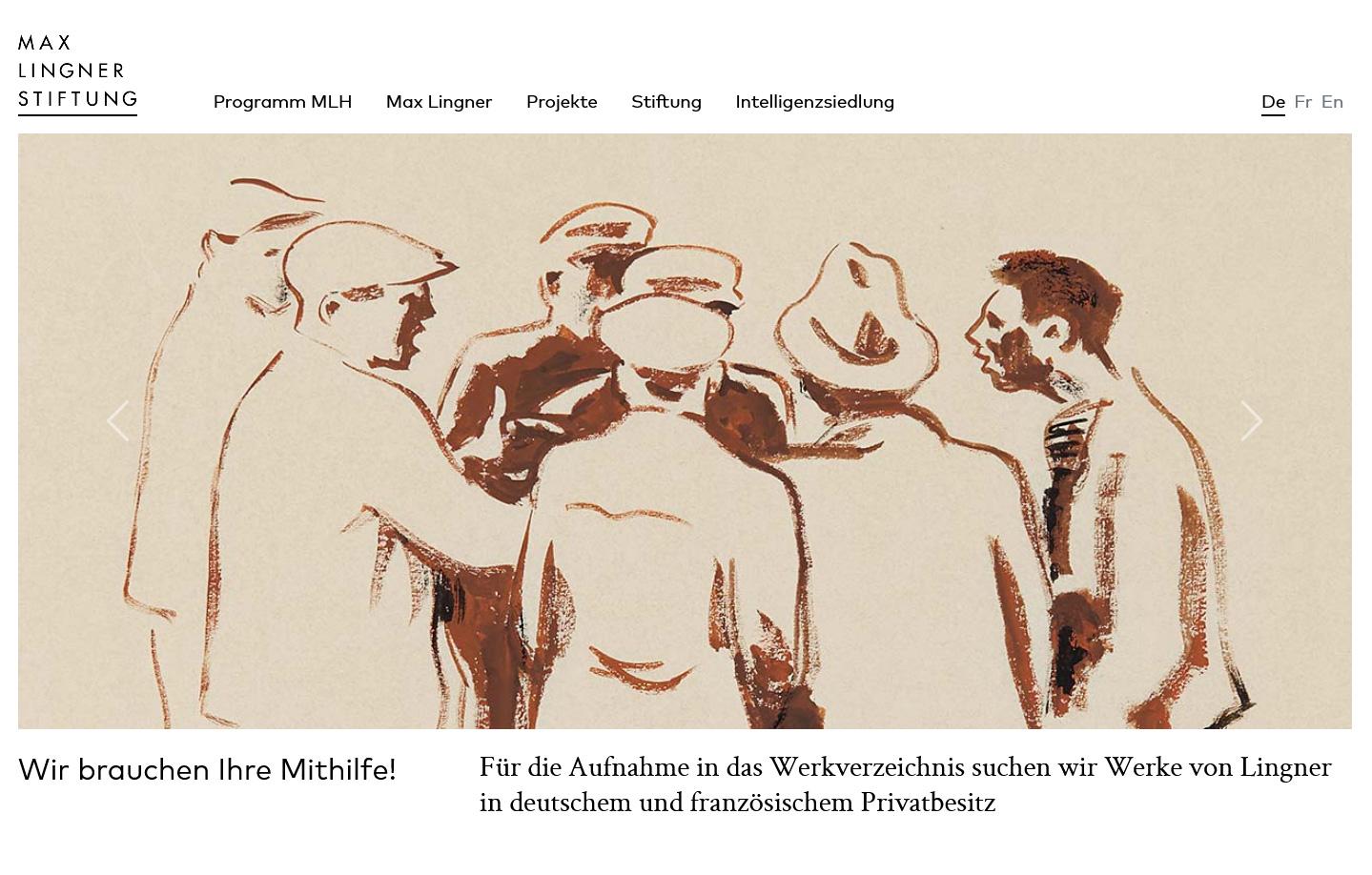 Screenshot 19.04.2021 https://www.max-lingner-stiftung.de